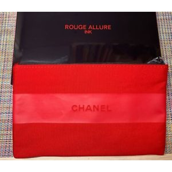 Chanel Vip Gift Cosmetic / Makeup Bag Rouge Allure - Red