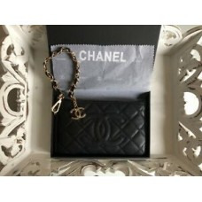 CHANEL VIP Gift Black Clutch Wallet Hand Bag New in Box