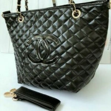 Chanel VIP Gift Cosmetic Quilted Mini Tote Shoulder Bag  ( Gold Chain )