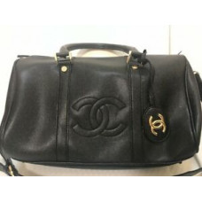 Defect Item - Chanel Paris Beauty VIP Travel Bag Duffle bag Gym Bag Cross Body Bag Black Gold
