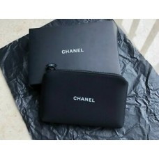 Chanel black Make up Pouch Bag