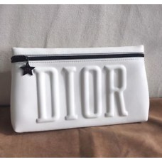 Dior White Cosmetic Makeup Bag Pouch Party Clutch New no box VIP Gift