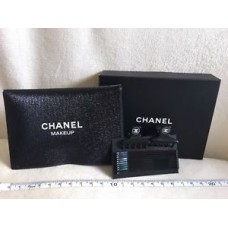 """Chanel VIP Gift - 2 """"Small"""" Black Hair Claw Clips with Shimmer Black Pouch"""