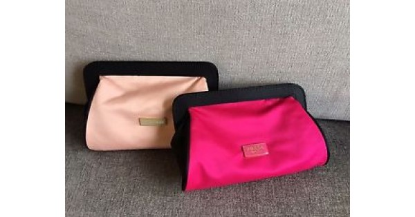 ecb8f6415816 Prada Parfums Women Makeup Bag Cosmetic Case Clutch Pouch NEW