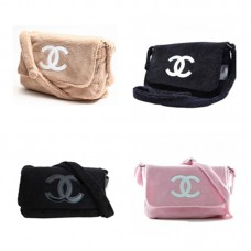 CLEARANCE - ( DEFECT ITEM ) - Chanel Precision VIP Gift faux fur Crossbody shoulder bag