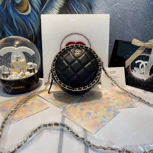 CHANEL BEAUTÉ GIFT - Black Cross Bag Clutch with Chain