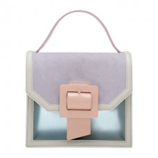 Charles & Keith See-Through Effect Buckled Bag - (GREY)