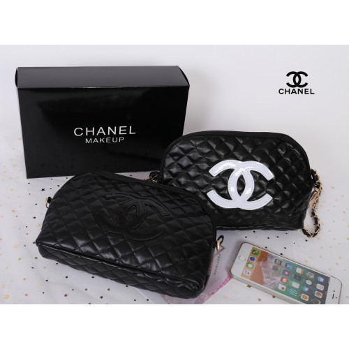 Chanel Quilted Leather Crossbody Bag with gift box