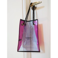 Chanel  Transparent / Pink Tote Bag  Purse