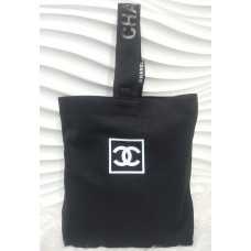 Chanel New Black Small Size Canvas Tote Bag Gift