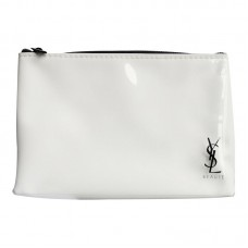 YSL Beauty White Waterproof Makeup Cosmetics Brush Bag / Pouch / Clutch / Case