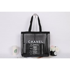 Black Mesh Beach Tote Shopping Bag VIP GIFT