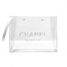 Chanel  Transparent Makeup Pouch Clear Cosmetic Bag